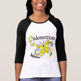 Stained Glass Butterfly 2 Endometriosis Tee Shirts