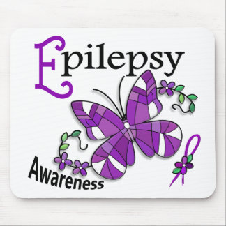 Stained Glass Butterfly 2 Epilepsy Mouse Pads