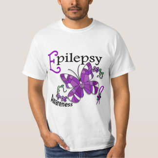 Stained Glass Butterfly 2 Epilepsy T-Shirt