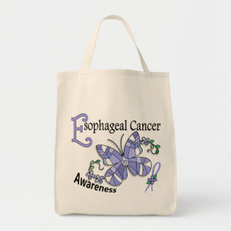 Stained Glass Butterfly 2 Esophageal Cancer Tote Bag