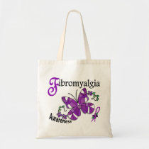 Stained Glass Butterfly 2 Fibromyalgia Tote Bag