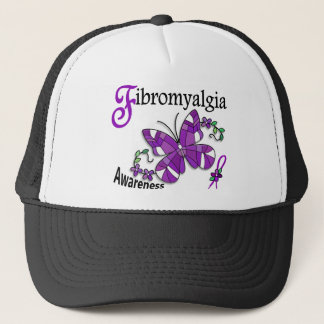 Stained Glass Butterfly 2 Fibromyalgia Trucker Hat