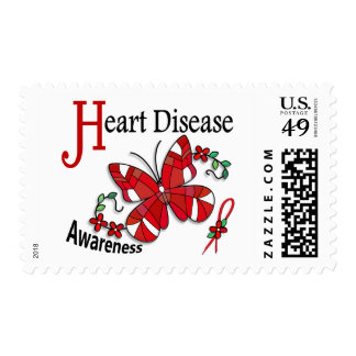 Stained Glass Butterfly 2 Heart Disease Postage Stamp