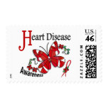 Stained Glass Butterfly 2 Heart Disease Stamp