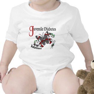 Stained Glass Butterfly 2 Juvenile Diabetes Baby Bodysuits