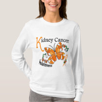 Stained Glass Butterfly 2 Kidney Cancer T-Shirt