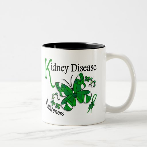Stained Glass Butterfly 2 Kidney Disease Mug