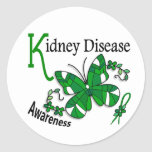 Stained Glass Butterfly 2 Kidney Disease Stickers