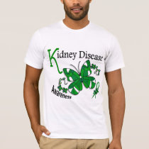 Stained Glass Butterfly 2 Kidney Disease T-Shirt