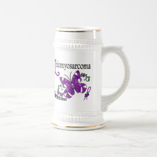 Stained Glass Butterfly 2 Leiomyosarcoma Coffee Mugs