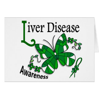 Stained Glass Butterfly 2 Liver Disease Card