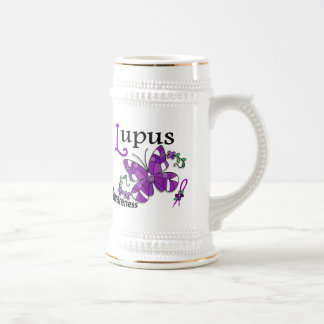 Stained Glass Butterfly 2 Lupus Coffee Mug