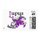 Stained Glass Butterfly 2 Lupus Postage
