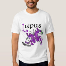 Stained Glass Butterfly 2 Lupus Tee Shirt
