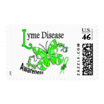 Stained Glass Butterfly 2 Lyme Disease Postage