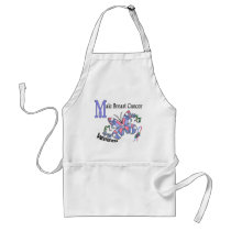 Stained Glass Butterfly 2 Male Breast Cancer Adult Apron