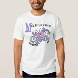 Stained Glass Butterfly 2 Male Breast Cancer T Shirts