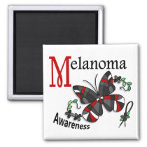 Stained Glass Butterfly 2 Melanoma Magnet