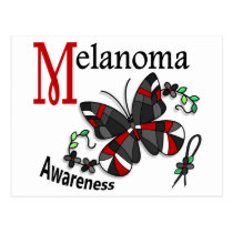Stained Glass Butterfly 2 Melanoma Postcard