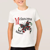 Stained Glass Butterfly 2 Melanoma T-Shirt