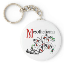 Stained Glass Butterfly 2 Mesothelioma Keychain