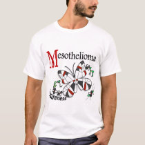 Stained Glass Butterfly 2 Mesothelioma T-Shirt