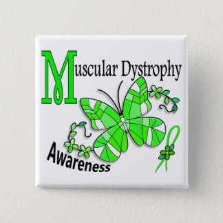 Stained Glass Butterfly 2 Muscular Dystrophy Button