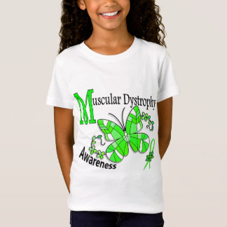 Stained Glass Butterfly 2 Muscular Dystrophy T-Shirt