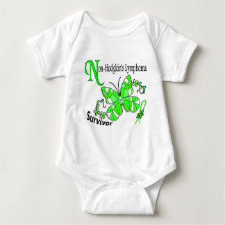Stained Glass Butterfly 2 Non-Hodgkin's Lymphoma Baby Bodysuit