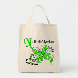 Stained Glass Butterfly 2 Non-Hodgkin's Lymphoma Canvas Bag