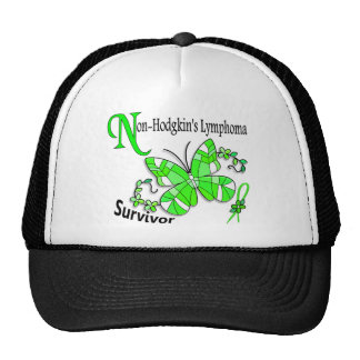 Stained Glass Butterfly 2 Non-Hodgkin's Lymphoma Trucker Hat