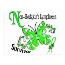 Stained Glass Butterfly 2 Non-Hodgkin's Lymphoma Postcard
