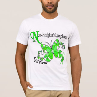 Stained Glass Butterfly 2 Non-Hodgkin's Lymphoma T-Shirt
