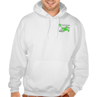 Stained Glass Butterfly 2 Non-Hodgkin's Lymphoma Hooded Sweatshirt