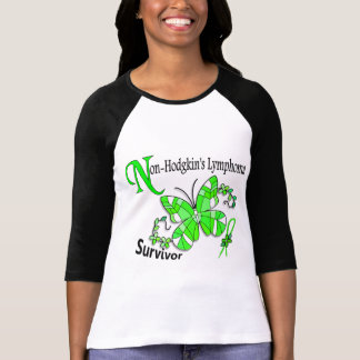 Stained Glass Butterfly 2 Non-Hodgkin's Lymphoma T-shirts