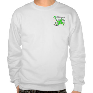 Stained Glass Butterfly 2 Non-Hodgkin's Lymphoma Pull Over Sweatshirt