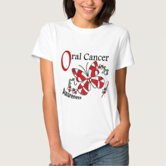 Stained Glass Butterfly 2 Oral Cancer T-shirts