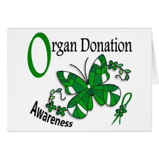 Stained Glass Butterfly 2 Organ Donation Greeting Cards