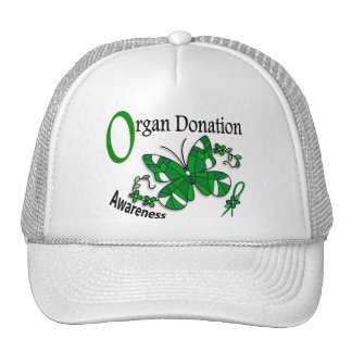 Stained Glass Butterfly 2 Organ Donation Mesh Hat