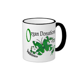 Stained Glass Butterfly 2 Organ Donation Mugs
