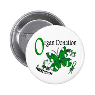 Stained Glass Butterfly 2 Organ Donation Pin