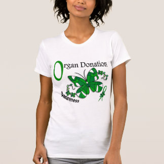 Stained Glass Butterfly 2 Organ Donation Shirt
