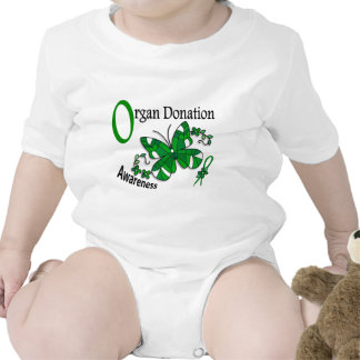 Stained Glass Butterfly 2 Organ Donation T Shirt
