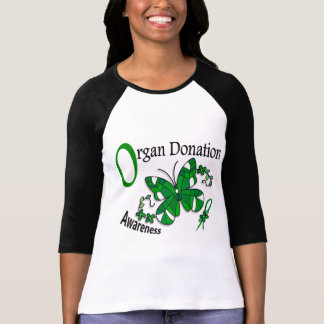 Stained Glass Butterfly 2 Organ Donation T-shirts