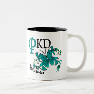 Stained Glass Butterfly 2 PKD Two-Tone Coffee Mug