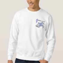 Stained Glass Butterfly 2 Prostate Cancer Sweatshirt
