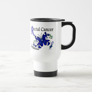 Stained Glass Butterfly 2 Rectal Cancer Mugs