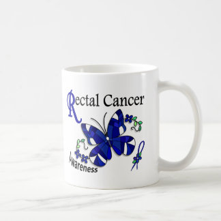Stained Glass Butterfly 2 Rectal Cancer Coffee Mugs