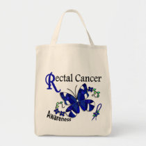 Stained Glass Butterfly 2 Rectal Cancer Tote Bag