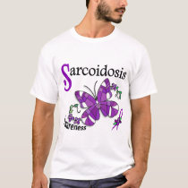 Stained Glass Butterfly 2 Sarcoidosis T-Shirt